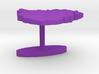 Zimbabwe Terrain Cufflink - Flat 3d printed