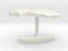 Burkina Faso Terrain Cufflink - Flat 3d printed