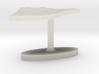 Belize Terrain Cufflink - Flat 3d printed