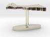 Central African Republic Terrain Cufflink - Flat 3d printed