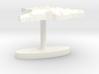 Brazil Terrain Cufflink - Flat 3d printed