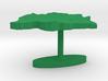 Botswana Terrain Cufflink - Flat 3d printed