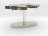 Germany Terrain Cufflink - Flat 3d printed