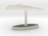 Dominican Republic Terrain Cufflink - Flat 3d printed