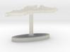 Mozambique Terrain Cufflink - Flat 3d printed