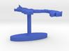 Panama Terrain Cufflink - Flat 3d printed