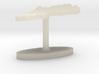 Sweden Terrain Cufflink - Flat 3d printed