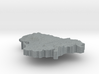 Lithuania Terrain Silver Pendant 3d printed
