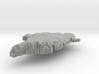 Greenland Terrain Silver Pendant 3d printed