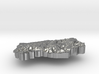 Lesotho Terrain Silver Pendant 3d printed