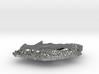 South Africa Terrain Silver Pendant 3d printed