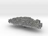 Bhutan Terrain Silver Pendant 3d printed