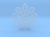 Snowflake Earrings 2 3d printed