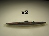 I-400 Class Submarine (1:1800) x2 3d printed Comes unpainted.  Set of 2 submarines.