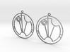 Saskia - Earrings - Series 1 3d printed