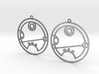 Riley - Earrings - Series 1 3d printed