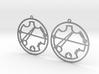 Kristin / Cristin - Earrings - Series 1 3d printed