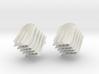 Diamond wave mesh 3d printed