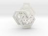 Triple Hexagon Pendant 3d printed