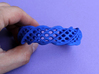 Twist Cuff (Size M)  3d printed Printed in Blue Strong & Flexible Polished Plastic