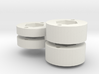 Mini Mags Rc Car wheel Hex Adapters 3d printed