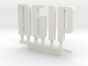 Agip Sign Logo N Scale1:160 3d printed