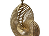 Nautilus Shell Wireframe Pendant Jewelry 3d printed