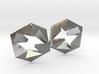 Flat Cube Earrings 3d printed