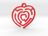 Pendant Mazy Heart  3d printed