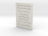 Write the bad things that are done to you in sand 3d printed