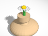 Vase With A Daisy 3d printed