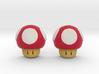Super Mario Mushrooms Earrings 3d printed