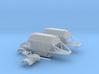 1/87th HO scale 24' Covered Belly Dump Hopper Trai 3d printed