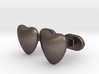 Half heart Cufflinks 3d printed