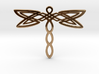 Dragonfly pendant 3d printed