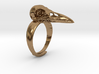 Crow Ring With Logo 3d printed