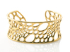 Bamboo Cuff (sz M) 3d printed polished brass