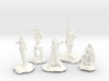 Sorcerer, Bard, Cleric, Paladin, and Rogue 3d printed