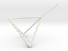 Wire Model for Soap: Tetrahedron 3d printed