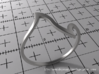 Ring Model D - Size 6 - Silver 3d printed