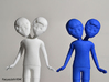 Siamese Boys 3d printed White Strong & Flexible and Blue Strong & Flexible Polished