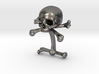 Cufflink Skull & Bones (just one) 3d printed