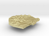 Swaziland Terrain Silver Pendant 3d printed