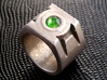 Green Lantern ring size 15 3d printed