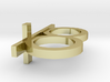 Two Finger Cross Ring 3d printed