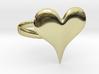 Liquid Metal Heart Ring 3d printed