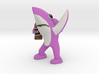 Pink Drunk Shark 3d printed
