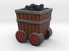 Game Piece, Power Grid, Coal Cart Token 3d printed