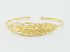 Wheat Bracelet all sizes 3d printed 18k plate