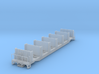 Ties Flat Car without load N scale (1/160) 3d printed